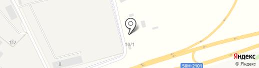 Бригантина на карте Озерного