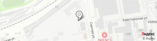 Сам Мастер на карте Новосибирска