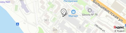 Логистро на карте Новосибирска