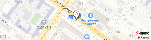 РосДеньги на карте Новосибирска