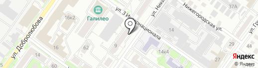 Веб Виктори на карте Новосибирска