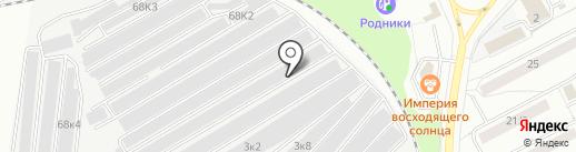 Шиповник на карте Новосибирска