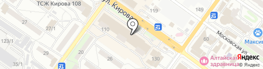 Красотка на карте Новосибирска