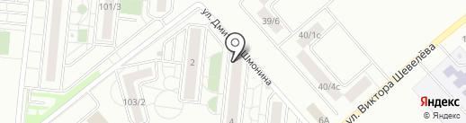 У дома на карте Новосибирска