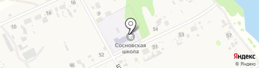Средняя общеобразовательная школа на карте Сосновки