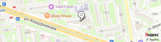 Магнит на карте Новосибирска