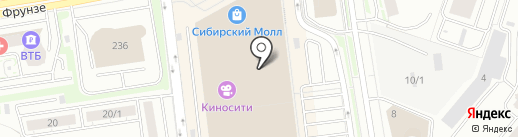 Yota на карте Новосибирска