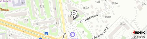На Красина на карте Новосибирска