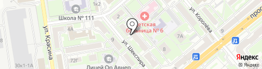 Тогучинский на карте Новосибирска