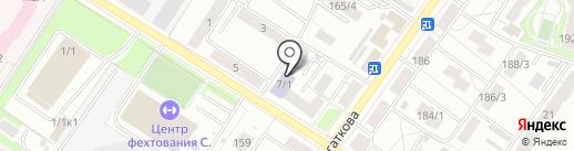 Детская школа искусств №12 на карте Новосибирска