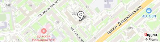 Адвокат Стребко Е.Г. на карте Новосибирска