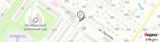 Киоск по продаже рыбы, морепродуктов на карте Новосибирска