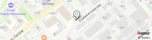 Новосибирский Крематорий, МУП на карте Новосибирска