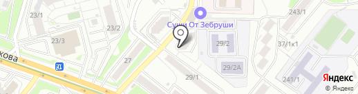 Магазин овощей и фруктов на карте Новосибирска