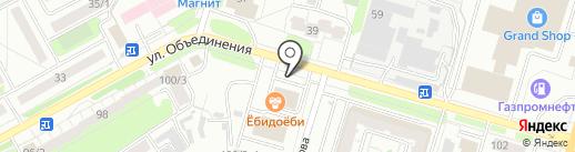 Движок на карте Новосибирска