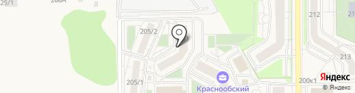 Новосибирский квартал на карте Краснообска