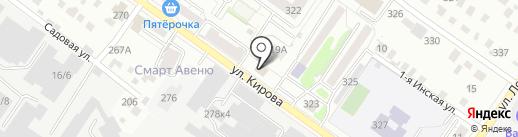 КАЙМАН на карте Новосибирска