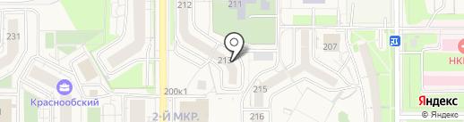 Рождение для двоих на карте Краснообска