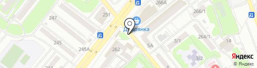 Киоск по изготовлению ключей на карте Новосибирска