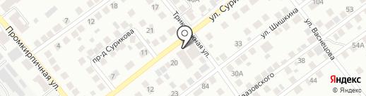 Гараж №1 на карте Новосибирска