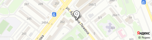 Киоск по продаже мясной продукции на карте Новосибирска