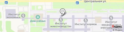 Cибирский научно-исследовательский и проектно-технологический институт животноводства на карте Краснообска