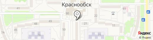 Киоск по продаже печатной продукции на карте Краснообска