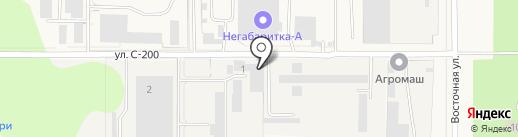 Автомойка на ул. С-200 на карте Краснообска