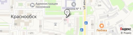 Магазин мясной и рыбной продукции на карте Краснообска