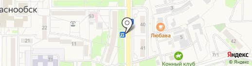 Центровой на карте Краснообска