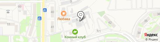 Мебельная фабрика Кувикиных на карте Краснообска
