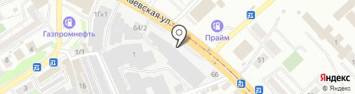 Хинкальная на карте Новосибирска