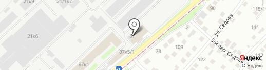 КДИ на карте Новосибирска