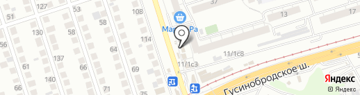 Парикмахерская на карте Новосибирска