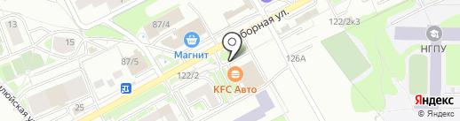 Абалденный салют на карте Новосибирска