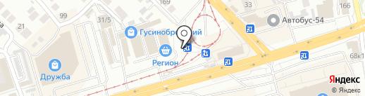 Киоск по продаже бытовой химии на карте Новосибирска
