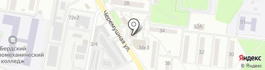 Аккумуляторный центр на карте Бердска