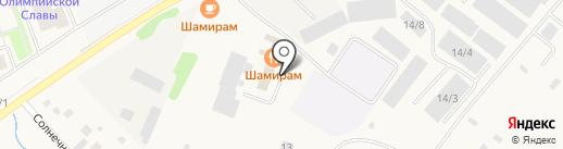 Шамирам на карте Восхода
