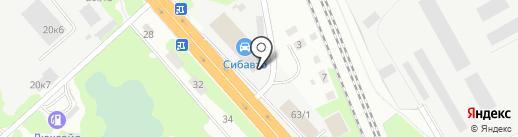 СтеклоХимАвто на карте Новосибирска