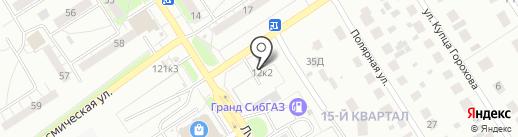 Шиномонтажная мастерская на ул. Южный микрорайон на карте Бердска