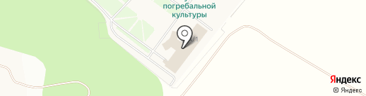 Новосибирский крематорий на карте Восхода
