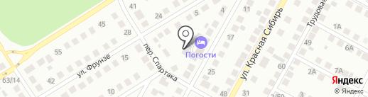 На Байдуках на карте Бердска