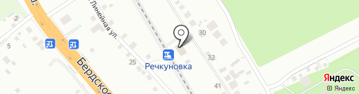 Речкуновка на карте Бердска