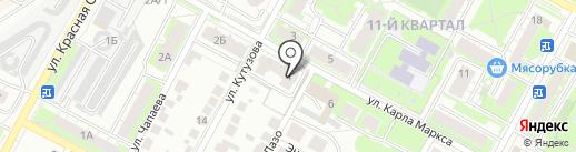 Заря, ЖСК на карте Бердска