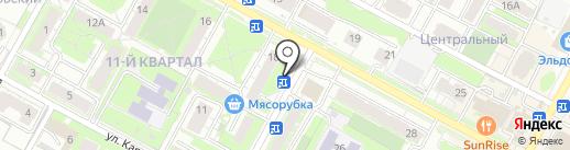 Киоск по ремонту обуви на карте Бердска