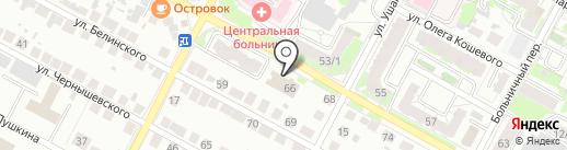 Управление Пенсионного фонда РФ в г. Бердске на карте Бердска