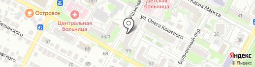 Представительство на карте Бердска
