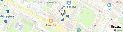 Киоск фастфудной продукции на карте Бердска