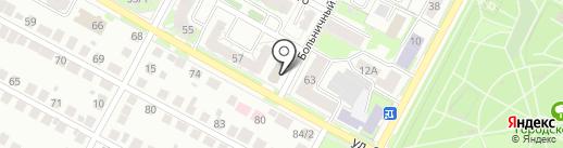 Машина времени на карте Бердска