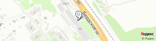 Магазин автотоваров и автотранспорта на карте Бердска